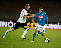 Marko Rog  during the  italian serie a soccer match,between SSC Napoli and Atalanta      at  the San  Paolo   stadium in Naples  Italy , August 27, 2017