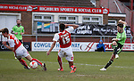 Ryan Flynn of Sheffield Utd gets off a shot on goal - English League One - Fleetwood Town vs Sheffield Utd - Highbury Stadium - Fleetwood - England - 5rd March 2016 - Picture Simon Bellis/Sportimage