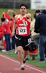 May 17, 2011 Colorado Springs, CO.  Marine Corps athlete, Manuel Jiminez, competes in the 800 meters during the 2011 Warrior Games at the U.S. Olympic Training Center, Colorado Springs, CO...