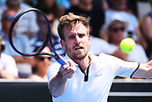 11th January 2018, ASB Tennis Centre, Auckland, New Zealand; ASB Classic, ATP Mens Tennis;  Peter Gojowczyk (GER) during the ASB Classic ATP Men's Tournament Day 4 Quarter Finals