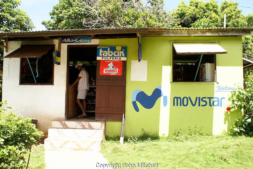 General store or pulperia on Big Corn Island, Nicaragua