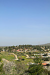 Israel, Shephelah, a view of Kibbutz Beth Guvrin from Maresha forest