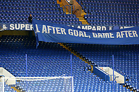 For a moment it was looking as if Chelsea were going to cover the 'Super Frankie Lampard' banner but thankfully that was not the case during Chelsea vs Derby County, Caraboa Cup Football at Stamford Bridge on 31st October 2018