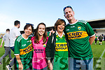 Kerry Fans at the Kerry v Kildare championship clash on Saturday evening at Fitzgerald stadium, from left: Gina, Shelly, Breda and Denis Culloty