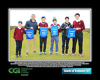 Ballybunion GC team with Bank of Ireland Official Morgan Whelan and CGI Participation Officer Jennifer Hickey with Junior golfers across Munster practicing their skills at the regional finals of the Dubai Duty Free Irish Open Skills Challenge at the Ballykisteen Golf Club, Limerick Junction, Co. Tipperary. 16/04/2016.<br /> Picture: Golffile | Thos Caffrey<br /> <br /> <br /> <br /> <br /> <br /> All photo usage must carry mandatory copyright credit (© Golffile | Thos Caffrey)