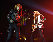 HOLLYWOOD FL - APRIL 25: David Coverdale and Joel Hoekstra of Whitesnake perform at the Hard Rock Events Center held at the Seminole Hard Rock Hotel & Casino on April 25, 2019 in Hollywood, Florida. : Credit Larry Marano © 2019