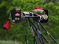 Apr 21, 2018; Baytown, TX, USA; Detailed view of the rear wing on the dragster of NHRA top fuel driver Leah Pritchett during qualifying for the Springnationals at Royal Purple Raceway. Mandatory Credit: Mark J. Rebilas-USA TODAY Sports
