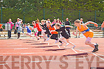 The start of the Girls Under 10 100m at the Kerry Community Games finals at Castleisland on Sunday.