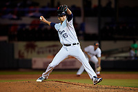 Lakeland Flying Tigers relief pitcher Drew VerHagen (45) during a Florida State League game against the Tampa Tarpons on April 5, 2019 at Publix Field at Joker Marchant Stadium in Lakeland, Florida.  Lakeland defeated Tampa 5-3.  (Mike Janes/Four Seam Images)
