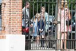 King Felipe VI of Spain, Princess Sofia of Spain, Princess Leonor of Spain and Queen Letizia of Spain arrives to the First Communion of princess Sofia at Asuncion de Nuestra Senora Church in Madrid, May 17, 2017. Spain.<br /> (ALTERPHOTOS/BorjaB.Hojas)