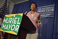 Washington, DC - April 2, 2014:  D.C. Councilmember and democratic mayoral nominee Muriel Bowser holds a media availability at the National Press Club a day after she won the primary against incumbent Vincent Gray.  (Photo by Don Baxter/Media Images International)