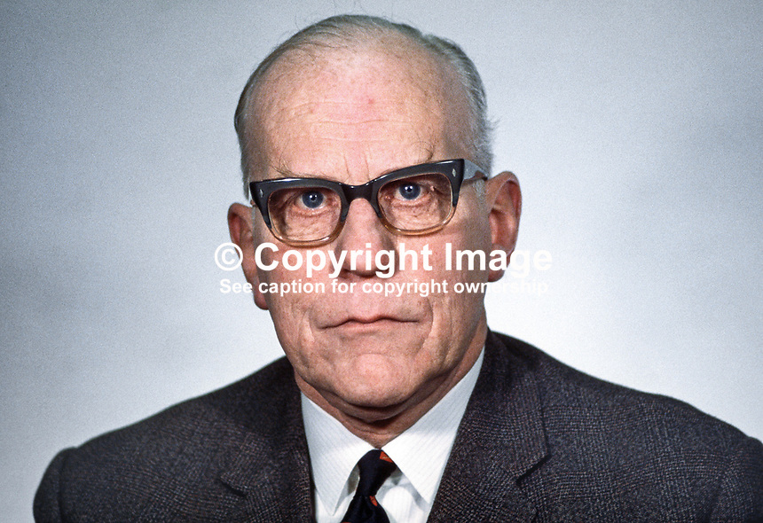 Councillor Albert Anderson, Mayor of Londonderry, MP, Ulster Unionist, N Ireland Parliament, Stormont, 19680300108AA.<br />