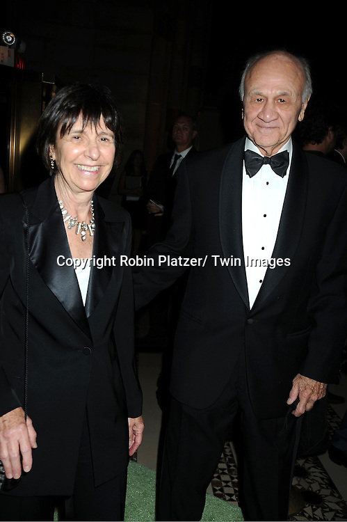 Nicholas Scoppetta  and wife attends the New Yorkers for Children 2012 Fall Gala to benefit youth in foster care on September 18, 2012 at Cipriani 42nd Street in New York City.