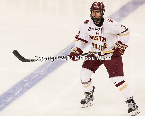 Serena Sommerfield (BC - 3) - The number one seeded Boston College Eagles defeated the eight seeded Merrimack College Warriors 1-0 to sweep their Hockey East quarterfinal series on Friday, February 24, 2017, at Kelley Rink in Conte Forum in Chestnut Hill, Massachusetts.The number one seeded Boston College Eagles defeated the eight seeded Merrimack College Warriors 1-0 to sweep their Hockey East quarterfinal series on Friday, February 24, 2017, at Kelley Rink in Conte Forum in Chestnut Hill, Massachusetts.