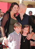 WWW.BLUESTAR-IMAGES.COM  Actors Ruve McDonough (L) Neal McDonough and family arrive at the Los Angeles premiere of 'The Lego Movie' held at Regency Village Theatre on February 1, 2014 in Westwood, California.<br /> Photo: BlueStar Images/OIC jbm1005  +44 (0)208 445 8588