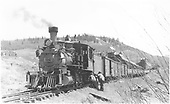 #278 nearing end of track at Baldwin.  2 men working on near locomotive.<br /> D&amp;RGW  Baldwin, CO  Taken by Perry, Otto C. - 6/28/1940
