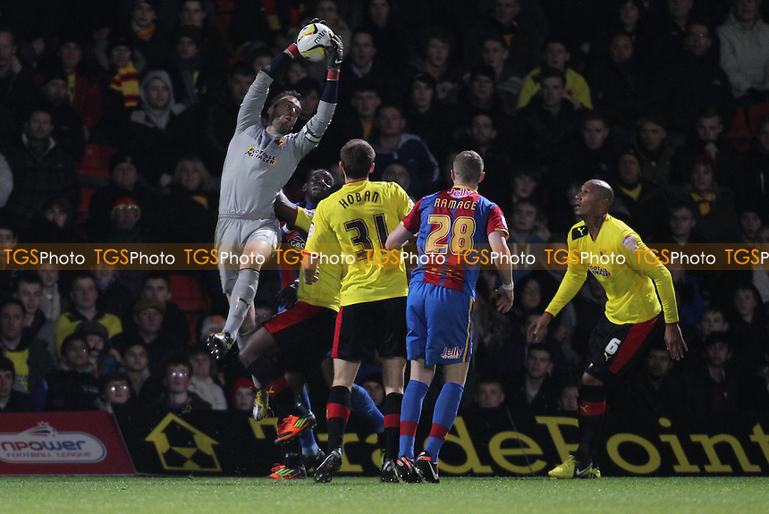 Manuel Almunia of Watford picks a ball from the air - Watford vs Crystal Palace - NPower Championship Football at Vicarage Road Stadium, Watford - 08/02/13 - MANDATORY CREDIT: Simon Roe/TGSPHOTO - Self billing applies where appropriate - 0845 094 6026 - contact@tgsphoto.co.uk - NO UNPAID USE