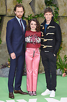 Tom Hiddlestone, Maisie Williams &amp; Eddie Redmayne at the &quot;Early Man&quot; world premiere at the IMAX, South Bank, London, UK. <br /> 14 January  2018<br /> Picture: Steve Vas/Featureflash/SilverHub 0208 004 5359 sales@silverhubmedia.com