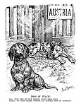 """Dogs of Peace? Italy. """"Now none of your sniffing round here. mind!"""" Germany. """"My dear fellow, nothing was further from my intention."""""""