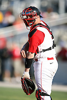 February 21, 2009:  Catcher Joe Witkowski (9) of St. John's University during the Big East-Big Ten Challenge at Jack Russell Stadium in Clearwater, FL.  Photo by:  Mike Janes/Four Seam Images