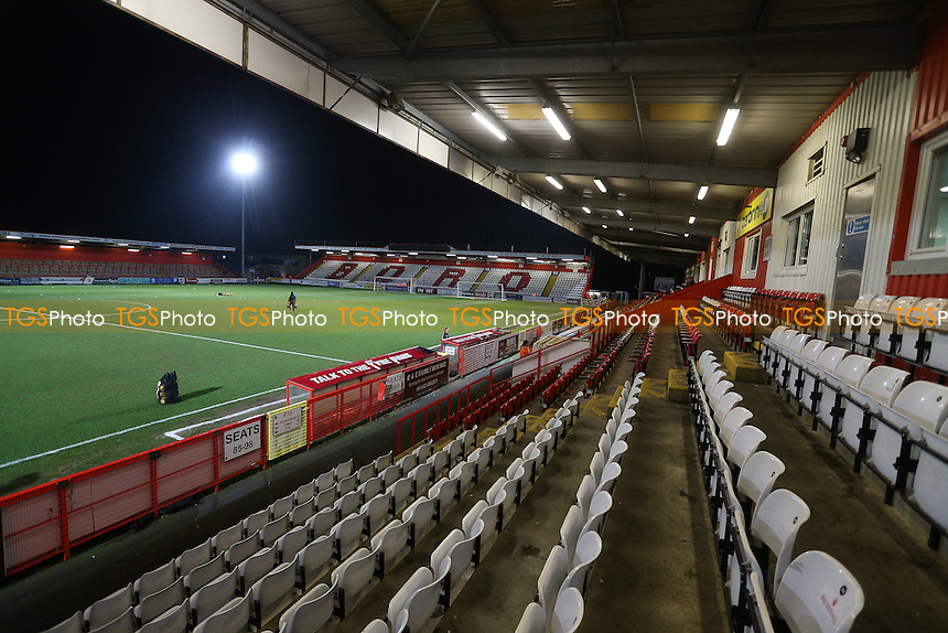 General view from the main stand during Stevenage vs Leyton Orient, Sky Bet EFL League 2 Football at the Lamex Stadium on 28th February 2017