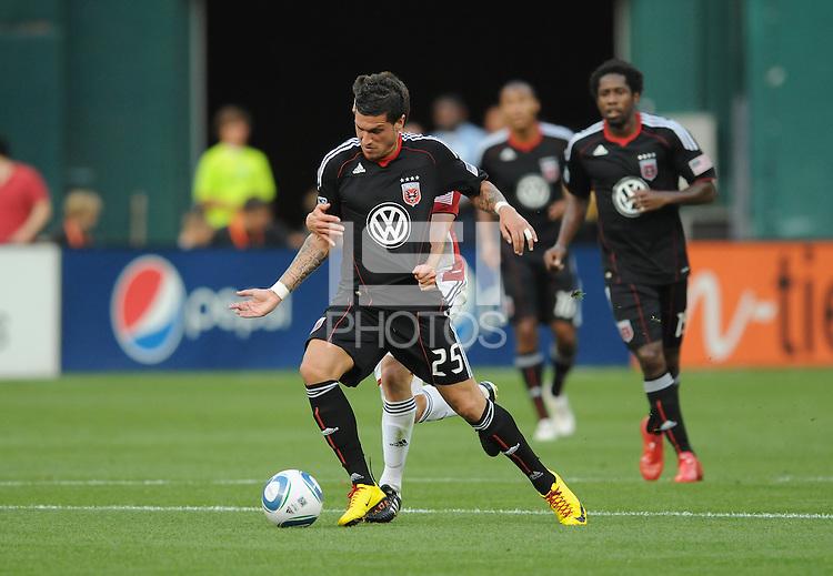 DC United forward Santino Quaranta (25)   DC United defeated Chivas USA 3-2 at RFK Stadium, Saturday  May 29, 2010.