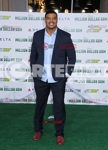 HOLLYWOOD, CA - MAY 6:  Shawne Merriman at the Premiere Of Disney's 'Million Dollar Arm'  on May 6, 2014 at El Capitan Theatre in Hollywood, California. Credit: SP1/Starlitepics /nortephoto.com