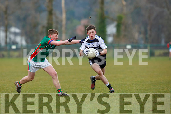 PS IS Kenmare Liam Twomey  goes past John Hunter Michelstown CBS during  the Munster Colleges B final in Ballyvourney on Saturday