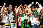 04/14/2011 - The Timbers Army reacts as goal keeper Jake Gleeson makes a save late in the second period, holding on to their 3-2 lead over FC Dallas during the Portland Timbers' second MLS home match at Jeld-Wen Field Sunday.  ..Photo by Christopher Onstott
