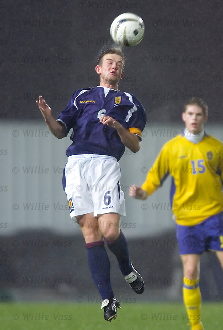 Jamie McCunnie, Scotland u21.stock season 2004-2005.pic willie vass