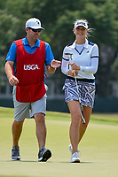 Jessica Korda (USA) smiles after sinking her birdie putt on 4 during round 4 of the 2019 US Women's Open, Charleston Country Club, Charleston, South Carolina,  USA. 6/2/2019.<br /> Picture: Golffile | Ken Murray<br /> <br /> All photo usage must carry mandatory copyright credit (© Golffile | Ken Murray)