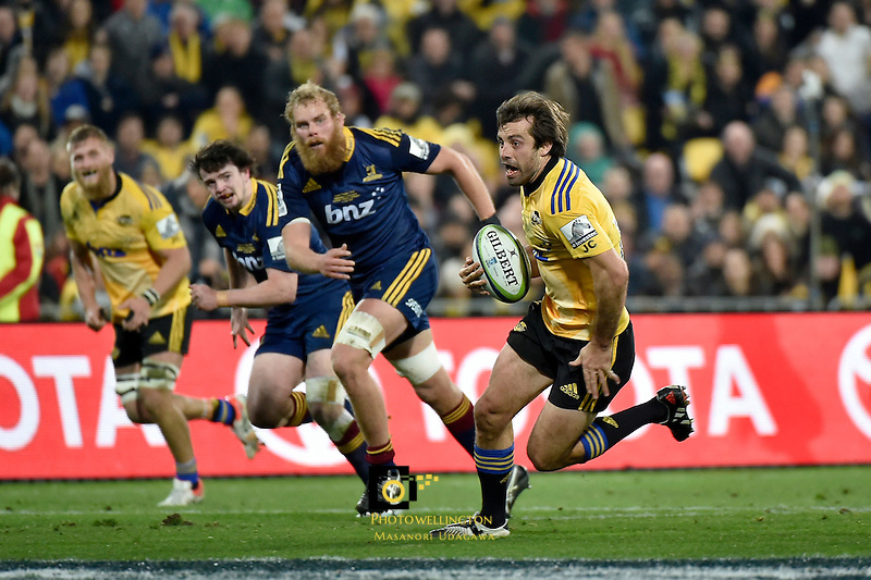 Conrad Smith in action during the Super Rugby Final - Hurricanes v Highlanders at Westpac Stadium, Wellington, New Zealand on Saturday 4 July 2015.<br /> Photo by Masanori Udagawa. <br /> www.photowellington.photoshelter.com.