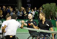 Februari 13, 2015, Netherlands, Rotterdam, Ahoy, ABN AMRO World Tennis Tournament, Stephane Houdet (FRA) / Gordon Reid (GBR) - Stefan Olsson (SWE) / Nicolas Peifer (FRA)<br /> Photo: Tennisimages/Henk Koster