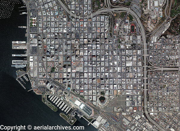 aerial photo map of San Diego, California
