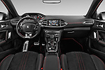 Stock photo of straight dashboard view of 2015 Peugeot 308 GT 5 Door Hatchback Dashboard