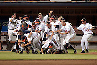 Virginia defeated Maryland 11-2 in game 3 of the super regionals June 8, 2014 in Charlottesville, VA. Photo/Jamie Howard
