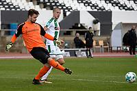 LA LINEA - Voetbal, FC Groningen - Dynamo Dresden, Trainingskamp FC Groningen, seizoen 2017-2018, 13-01-2018,  FC Groningen speler Jesper Drost met Patrick Wiegers