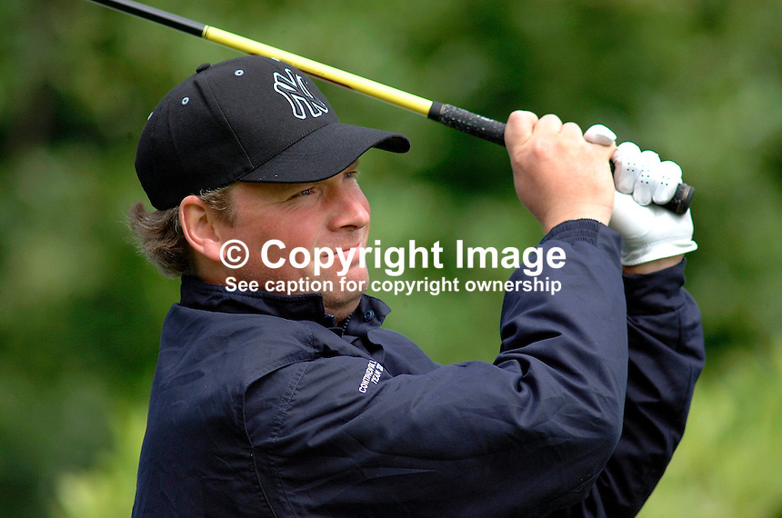 Mathias Grönberg, Mathias Gronberg, professional golfer, Sweden. Picture taken during practice for the Smurfit European Golf Champsionship at the K Club, Co Kildare, Rep of Ireland. Ref: 200207025622...Copyright Image from Victor Patterson, 54 Dorchester Park, Belfast, UK, BT9 6RJ..Tel: +44 28 9066 1296.Mob: +44 7802 353836.Voicemail +44 20 8816 7153.Skype: victorpattersonbelfast.Email: victorpatterson@mac.com.Email: victorpatterson@ireland.com (back-up)..IMPORTANT: If you wish to use this image or any other of my images please go to www.victorpatterson.com and click on the Terms & Conditions. Then contact me by email or phone with the reference number(s) of the image(s) concerned.