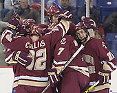 Brett Motherwell, Chris Collins, Brian Boyle, Peter Harrold, Dan Bertram - The University of Massachusetts-Lowell River Hawks defeated the Boston College Eagles 6-3 on Saturday, February 25, 2006, at the Paul E. Tsongas Arena in Lowell, MA.