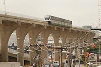 SÃO PAULO,SP,28,08,2014 -VISTA MONOTRILHO - Vista do  monotrilho da linha prata 15 no trecho entra a estação Vila Prudente e Oratório a inauguração está marcada para o proximo sabado.(Foto Ale Vianna/Brazil Photo Press).