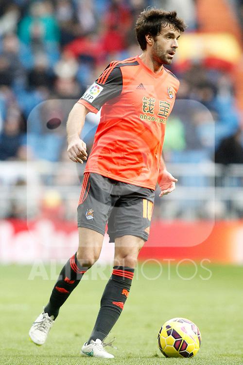 Real Sociedad's Xabi Prieto during La Liga match.January 31,2015. (ALTERPHOTOS/Acero)
