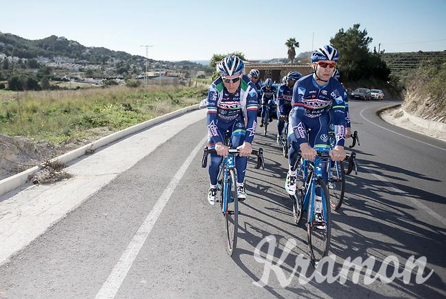 Enrico Gasparotto (ITA/Wanty-Groupe Gobert) & Antoine Demoitié (BEL/Wanty-Groupe Gobert) leading the way<br /> <br /> Pro Cycling Team Wanty-Groupe Gobert <br /> <br /> Pre-season Training Camp january 2016