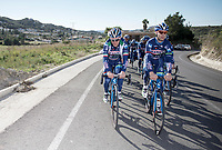 Enrico Gasparotto (ITA/Wanty-Groupe Gobert) & Antoine Demoitié (BEL/Wanty-Groupe Gobert) leading the way<br /> <br /> Pro Cycling Team Wanty-Groupe Gobert <br /> <br /> Pre-season Training Camp january 2016