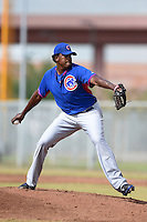 Chicago Cubs pitcher Jeferson Mejia (52) during an Instructional League intersquad game on October 9, 2014 at Cubs Park Complex in Mesa, Arizona.  (Mike Janes/Four Seam Images)