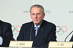 Jacques Rogge, <br /> SEPTEMBER 7, 2013 : <br /> A press conference after Tokyo was announced as the winning city bid for the 2020 Summer Olympic Games at the 125th International Olympic Committee (IOC) session in Buenos Aires Argentina, on Saturday September 7, 2013. (Photo by YUTAKA/AFLO SPORT)