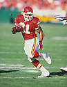 Kansas City Chiefs Priest Holmes (31) during a against the Seattle Seahawks at Arrowhead Stadium in Kansas City, Missouri on November 25, 2001  The Chiefs beat the Seahawks 19-7. Priest Holmes played for 10 years with 2 teams and was a 3-time Pro Bowler.