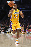 02/22/11 Los Angeles, CA: Los Angeles Lakers small forward Ron Artest #15 during an NBA game between the Los Angeles Lakers and the Atlanta Hawks at the Staples Center. The Lakers defeated the Hawks 104-80.