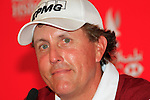 Phil Mickelson in the interview room during Practice Day 2 of the Abu Dhabi HSBC Golf Championship, 19th January 2011..(Picture Eoin Clarke/www.golffile.ie)