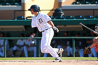 Detroit Tigers third baseman Nick Castellanos (44) at bat during a game vs. the Washington Nationals in an Instructional League game at Joker Marchant Stadium in Lakeland, Florida;  October 1, 2010.  Castellanos was selected in the first round, 44th overall supplemental, of the 2010 MLB Draft out of Archbishop McCarthy High School in Southwest Ranches, FL.  Photo By Mike Janes/Four Seam Images