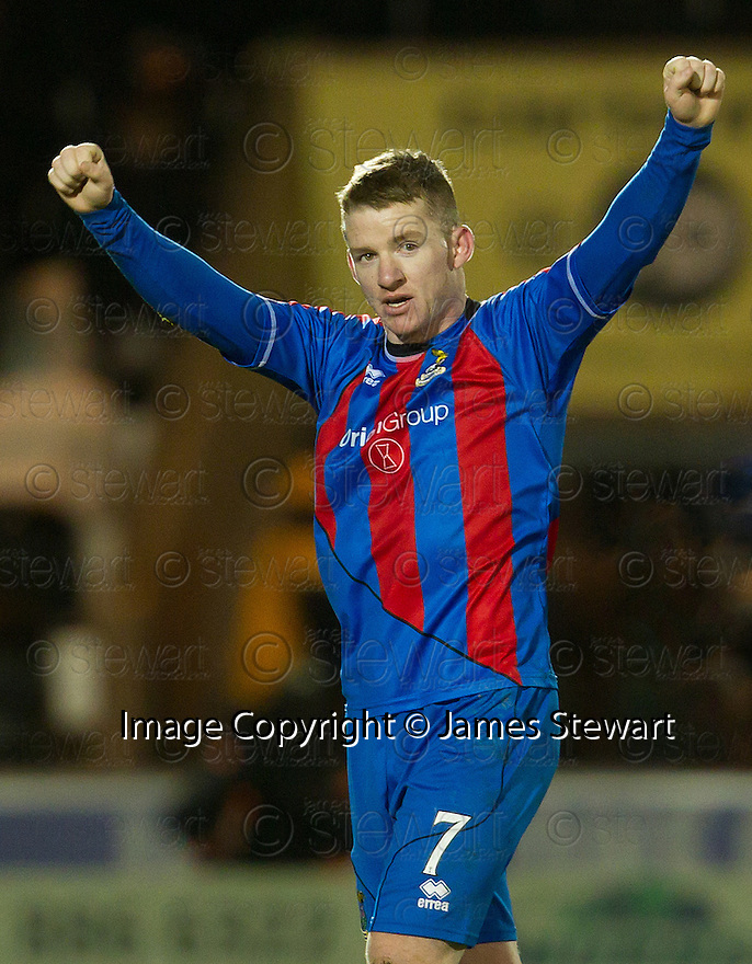 CALEY'S JONNY HAYES AT THE END OF THE GAME..03/12/2011   Copyright  Pic : James Stewart.sct_jsp016_st_mirren_v_ict  .James Stewart Photography 19 Carronlea Drive, Falkirk. FK2 8DN      Vat Reg No. 607 6932 25.Telephone      : +44 (0)1324 570291 .Mobile              : +44 (0)7721 416997.E-mail  :  jim@jspa.co.uk.If you require further information then contact Jim Stewart on any of the numbers above.........
